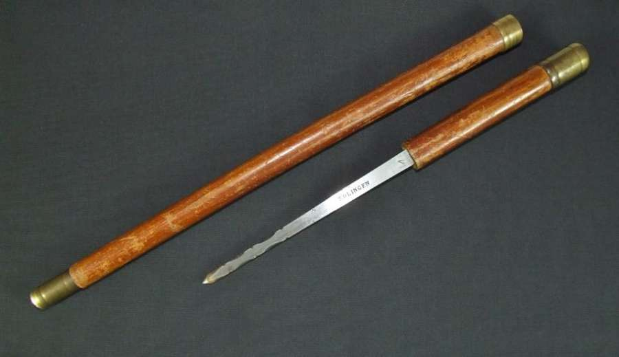 Imperial German Officer's Dagger Cane. Over 100 Years Old
