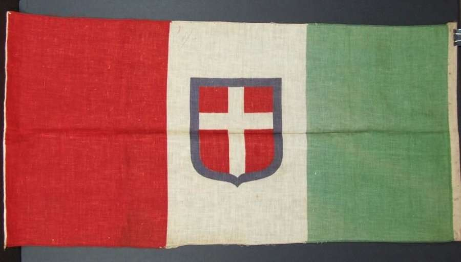 Italian Flag With House of Savoy Shield