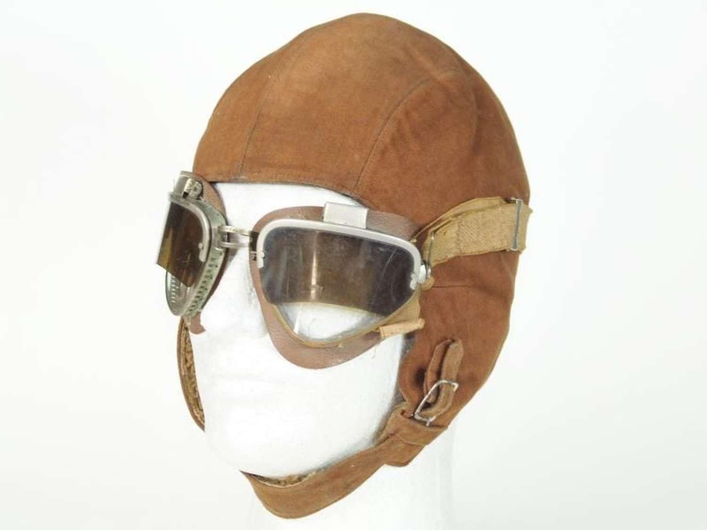 Italian Ascari del Cielo Paratroopers Helmet and Goggles