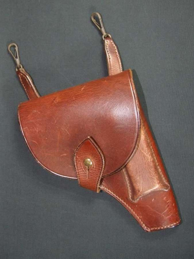 WW1 Period Leather Holster - Webley Automatic?