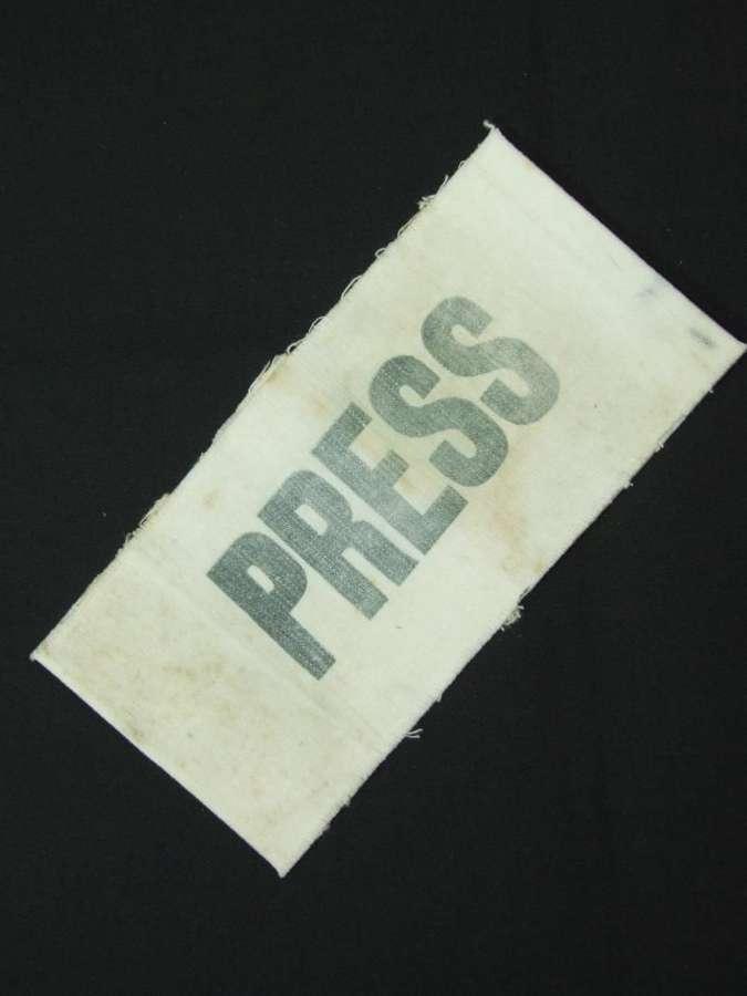 British Wartime Press Brassard