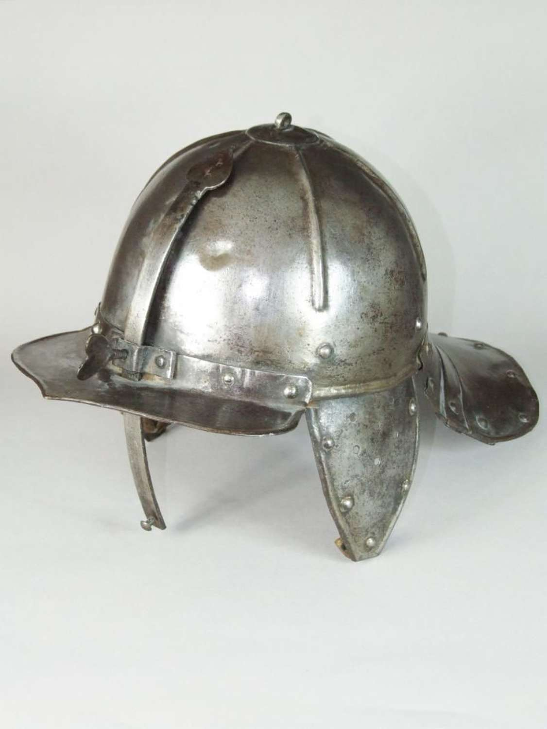 Zischägge or Lobster Tail Helmet Dating from about 1650.