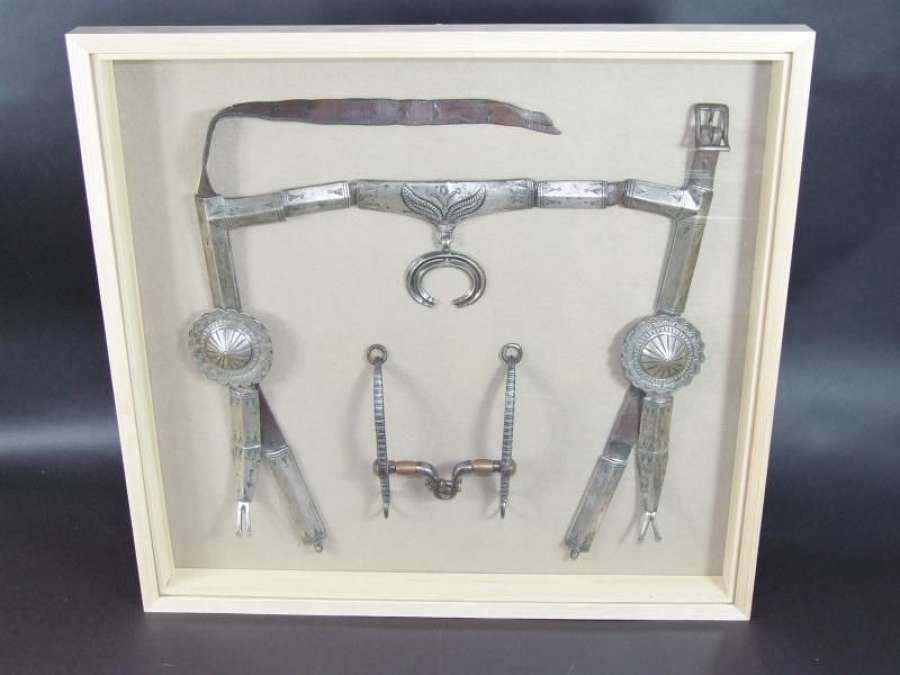 Navaho American Indian Silver and Leather Horse Halter