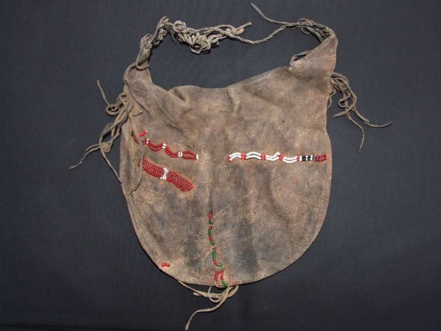 19th Century North American Indian Leather Pouch