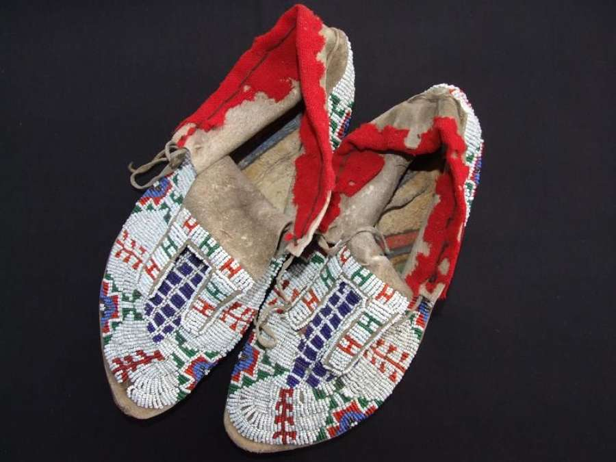 North American Sioux Indian Moccasins