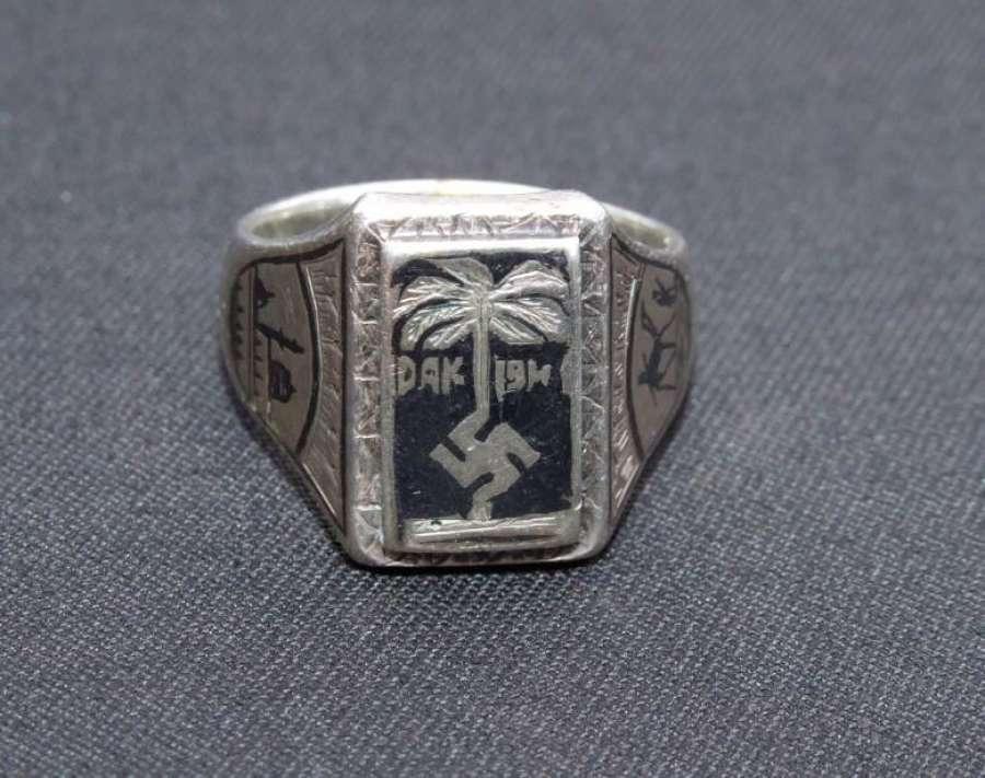 Tunis made Afrika Korps Ring. 900 Silver