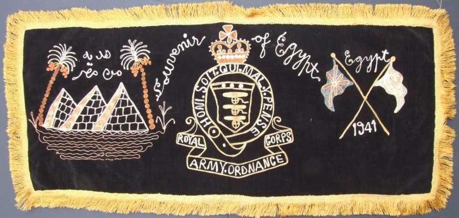 RAOC Souvenir From Egypt 1941