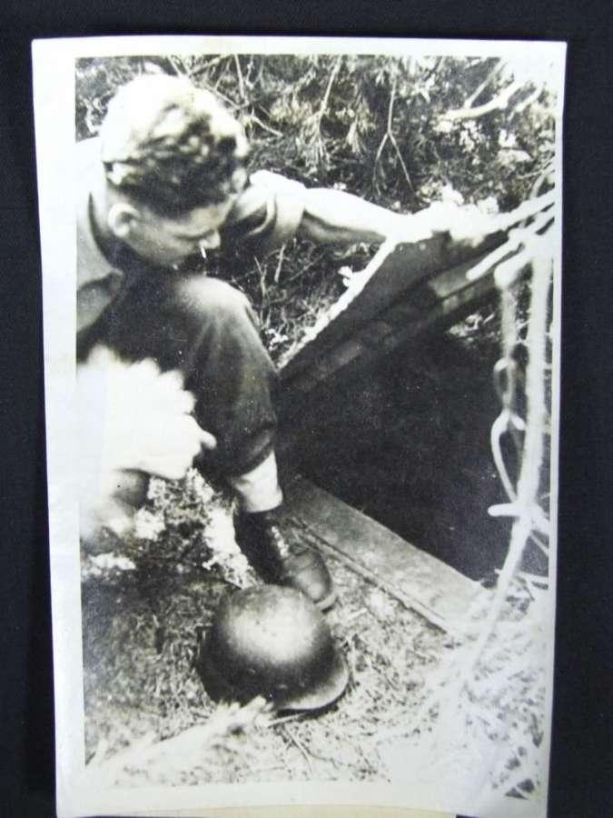 Official War Office Photograph. German Ammunition Bunker