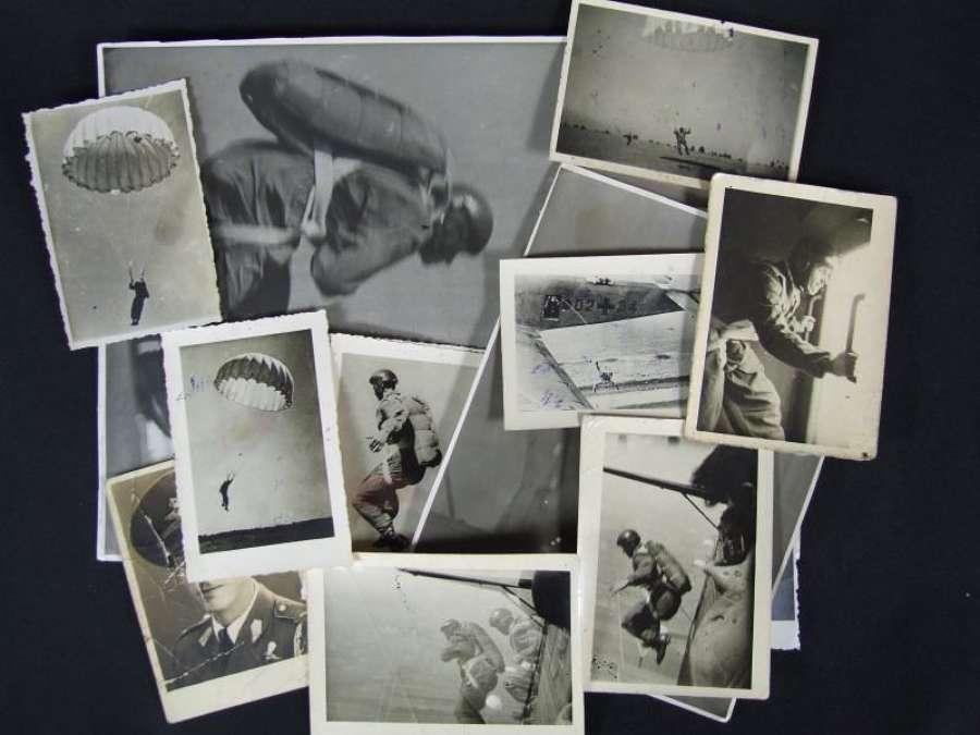 13 Original 1944 Photographs of Romanian Paratroops
