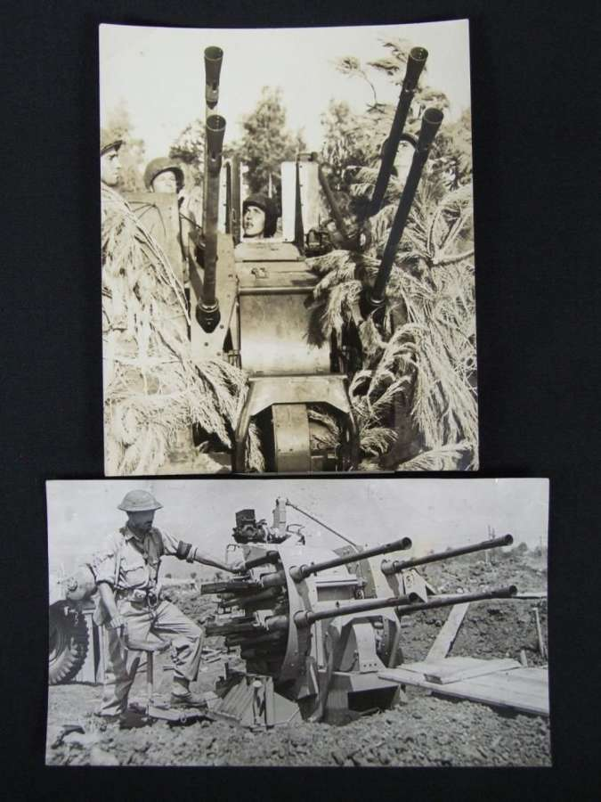 Allied Press Release Photographs. Italy, 2 cm Flak Vierling 38