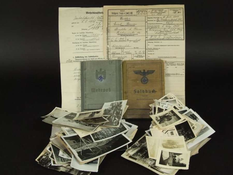 Very Rare Published Feldgendarmerie Collection to Oberfeldwebel Erich