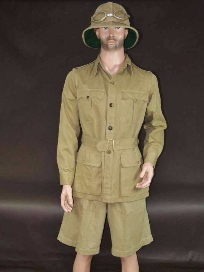 A Collection of British Khaki Drill Uniform Items