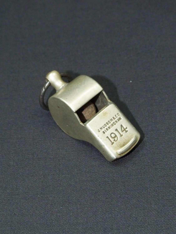 WW1 1914 Dated British Military Whistle