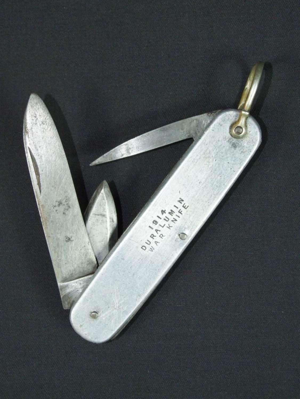 British 1914 Duralumin War Knife