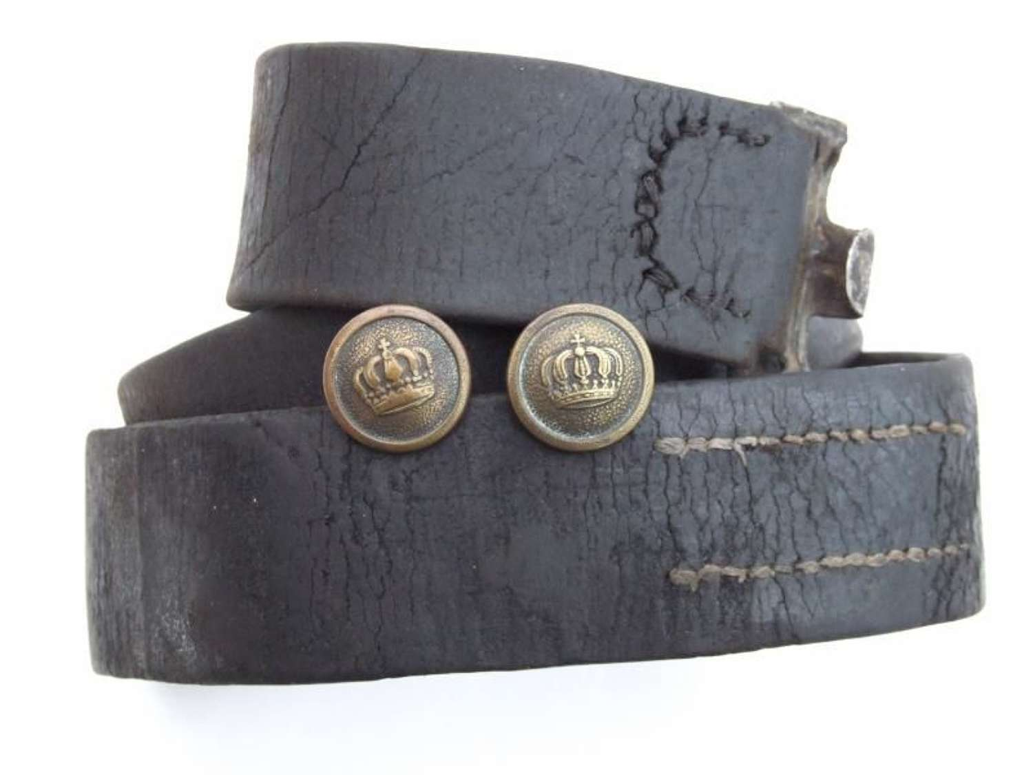 Imperial German Leather Belt With Belt Support Buttons