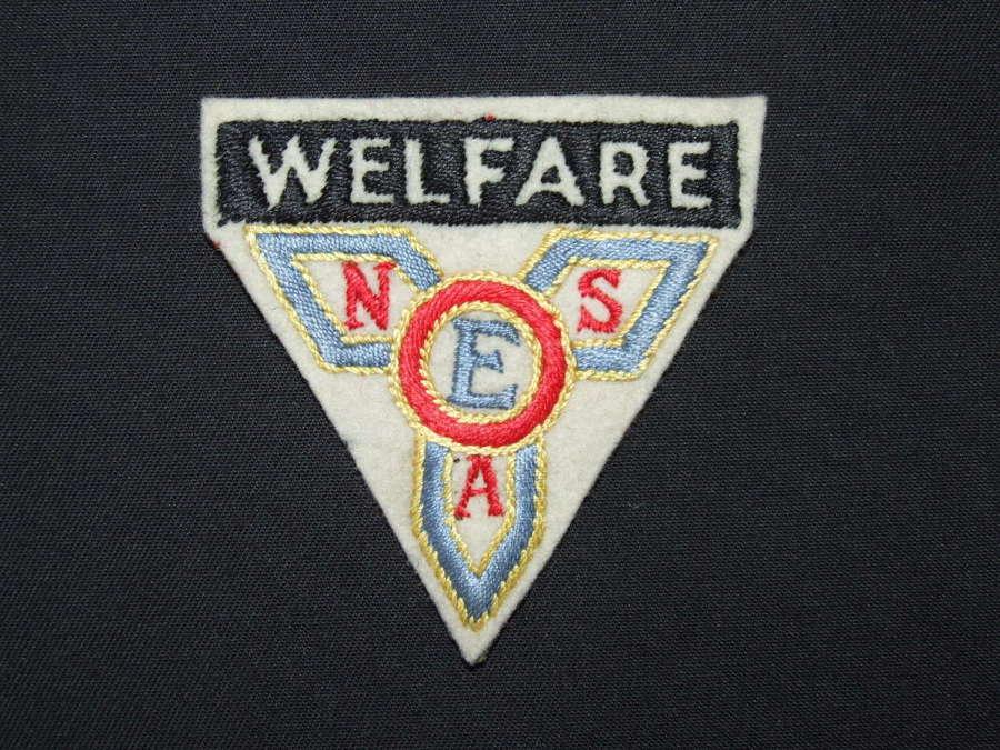 ENSA Welfare Cloth Sleeve Badge