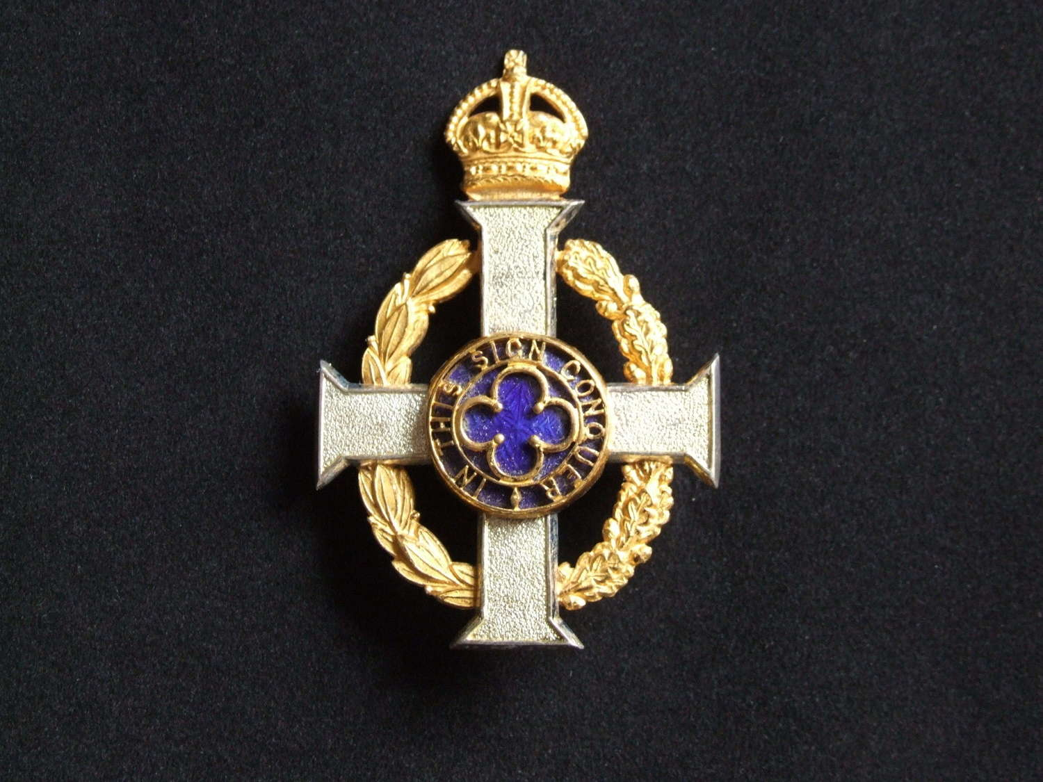 British Army Chaplain's Kings Crown Stole Badge
