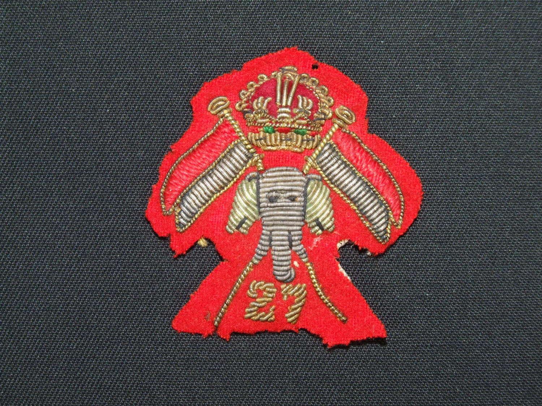 27th Lancers Officer's Cap Badge