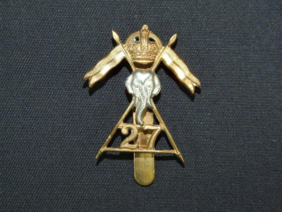27th Lancers Cap Badge