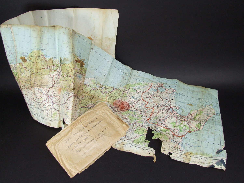 Tunis Battlefield Pickup Map. Operation Strike May 6 1943