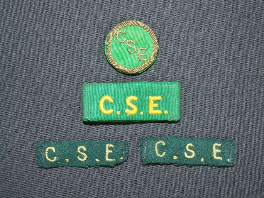 Combined Services Entertainment Insignia Set