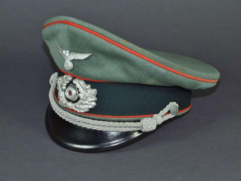 Artillery Officer's Double  Erel Peaked Cap - Schirmutze