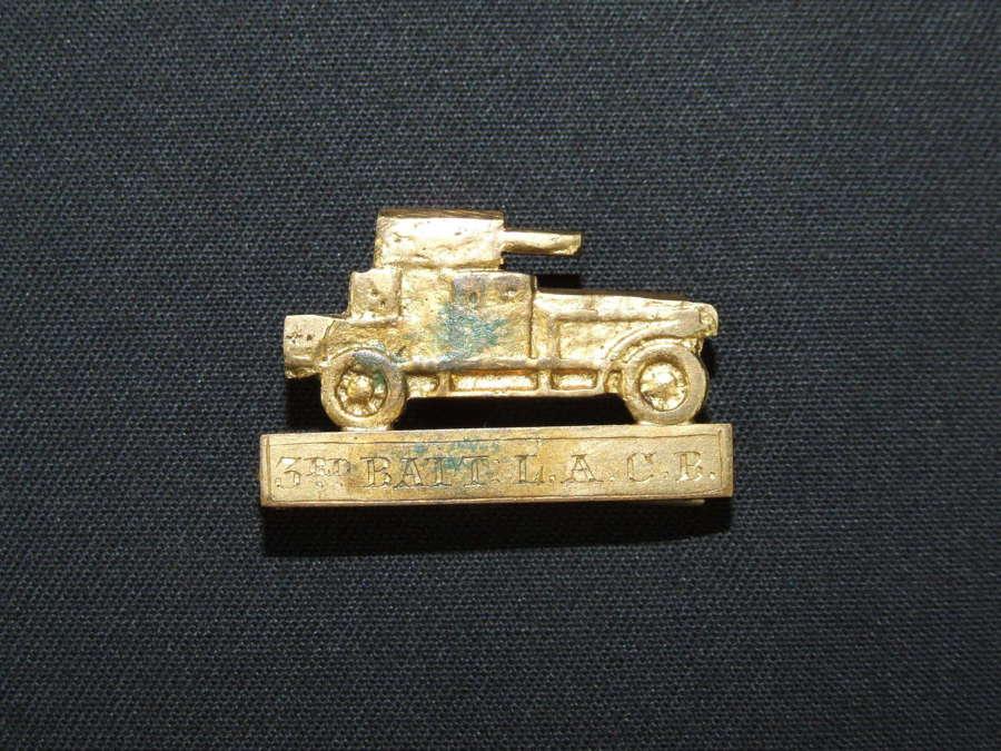 3rd. Battalion Light Armoured Car Brigade Sleeve Badge