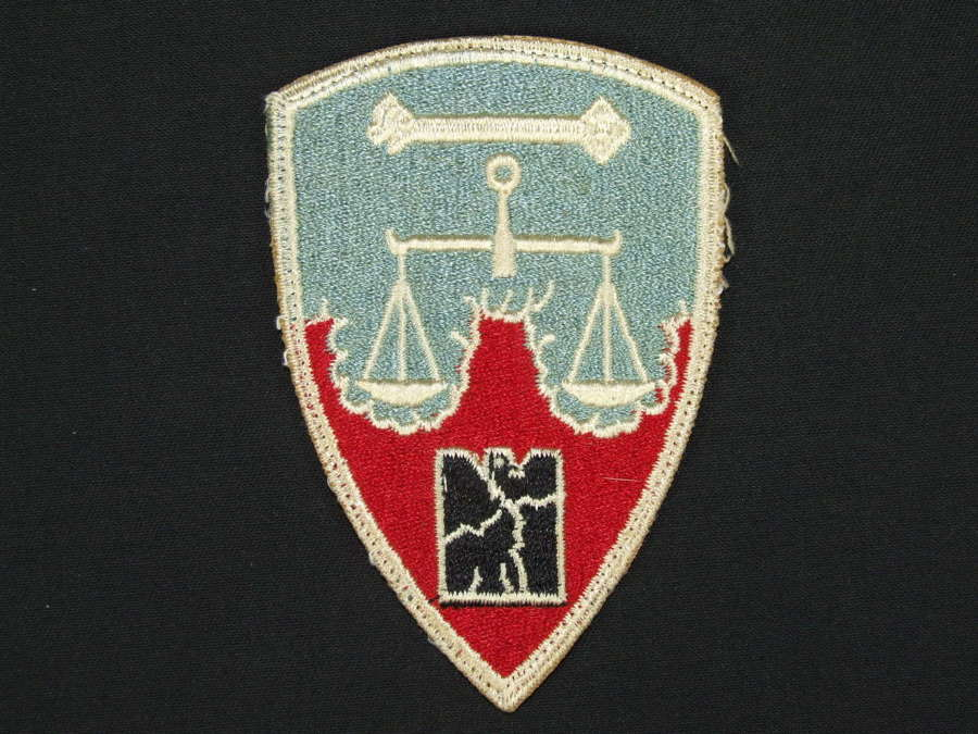 US Cloth Formation Patch. Nuremberg War Trials
