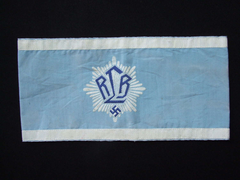 A first pattern RLB (Reichs Luftschutz Bund( Officer's Armband,