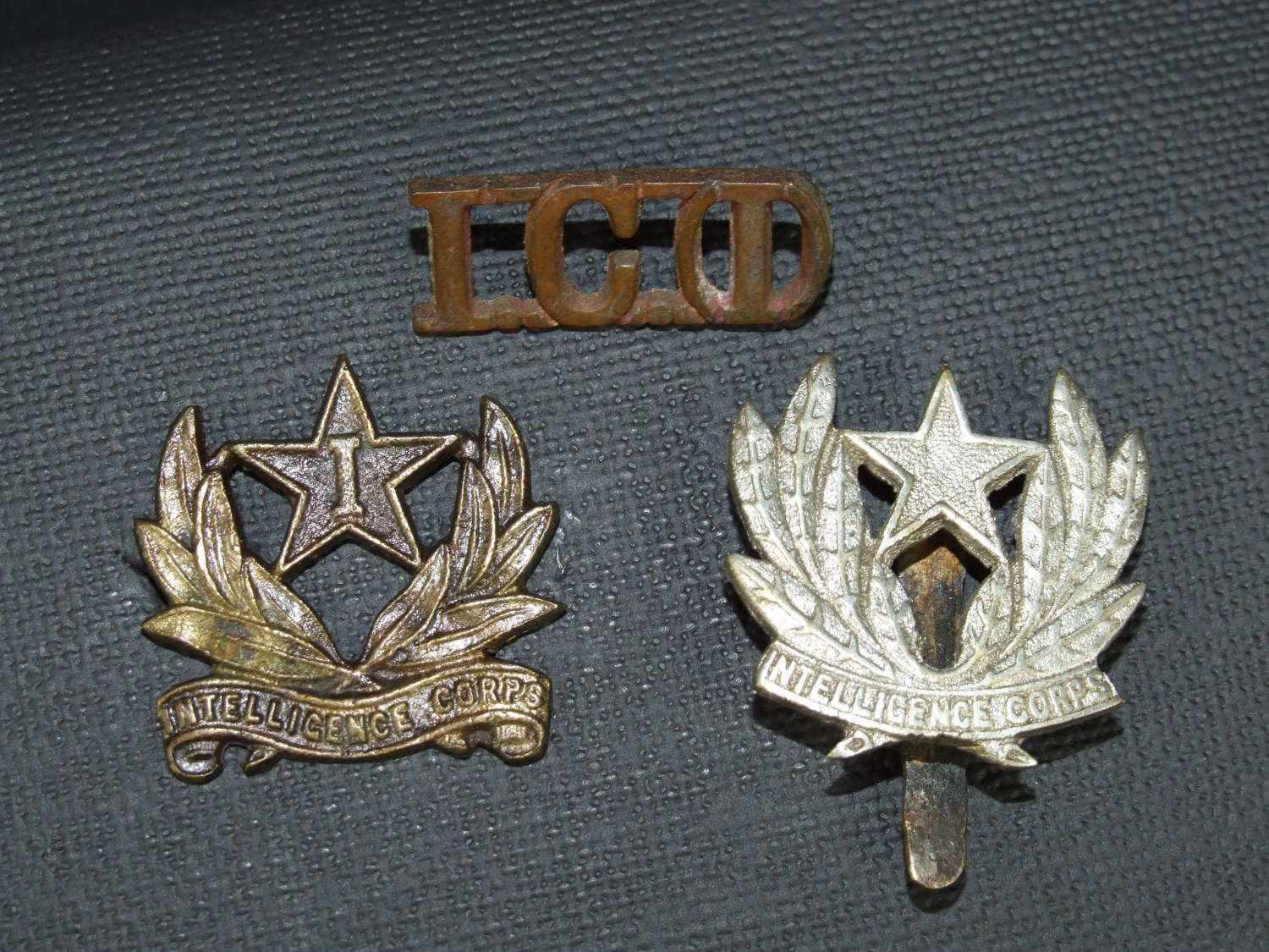 A Collection of WW11 Indian Intelligence Corps Insignia