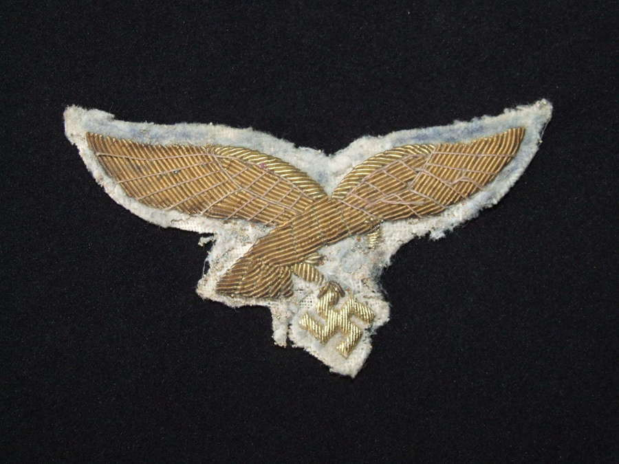 Luftwaffe general's Gold Breast Eagle on White Background