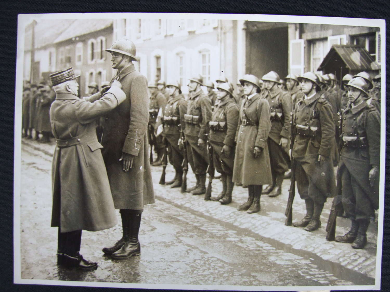 Press Photograph. Arthur Stratton Croix de Guerre. OSS, CIA
