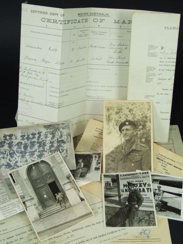 BBC War Correspondent Photographs and Paperwork