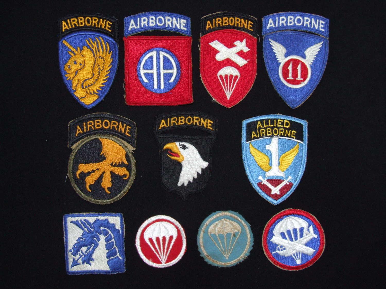 A Collection of Original US Airborne Cloth Insignia