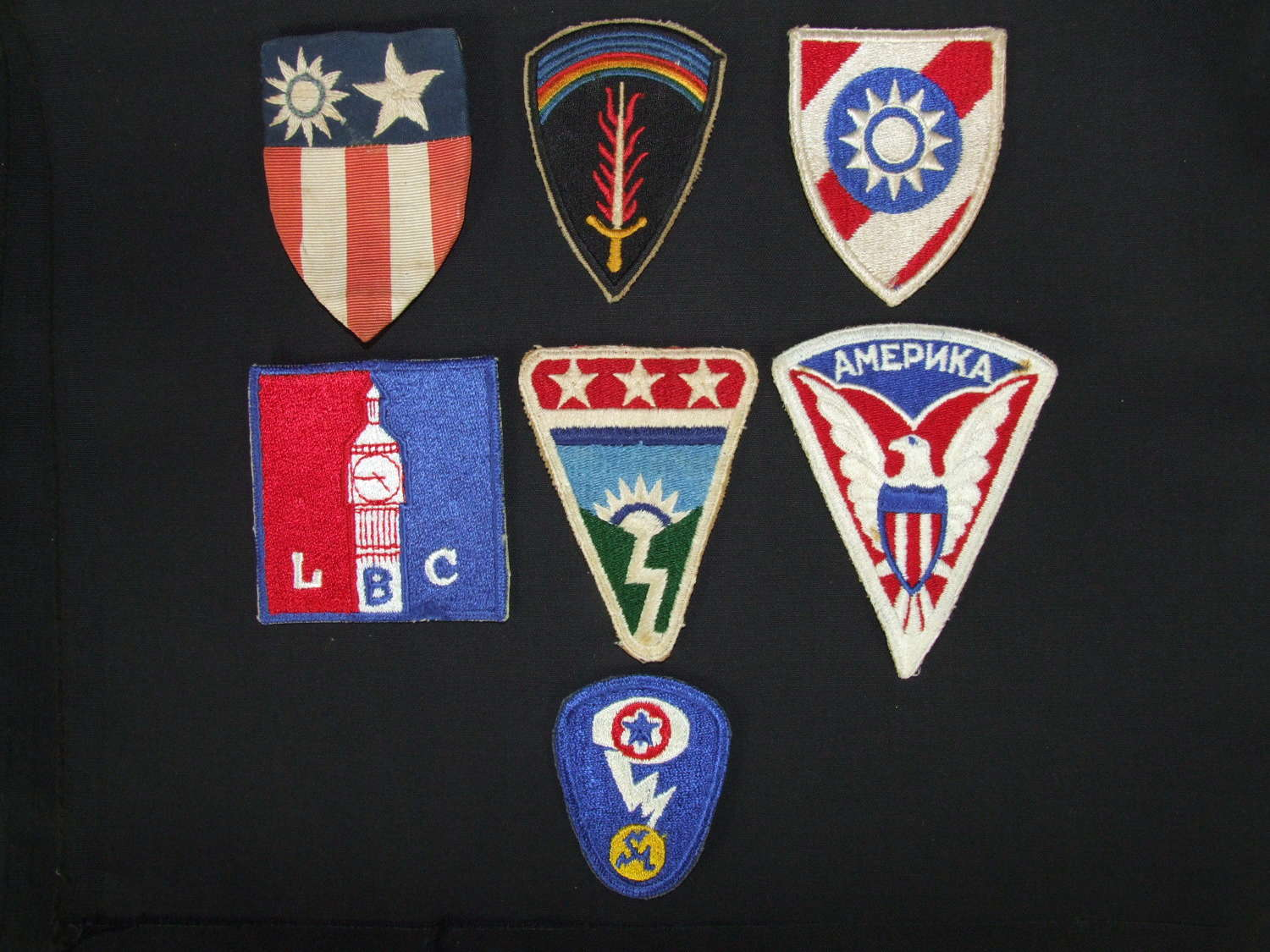 Wartime US Sleeve / Shoulder Patches