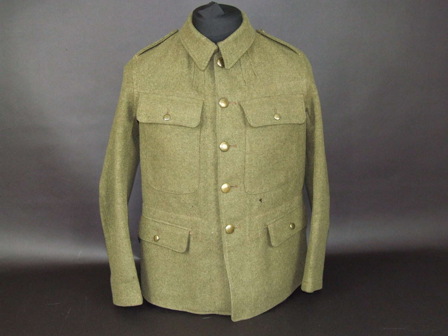 A Published WW1 US Made British Army Simplified Jacket