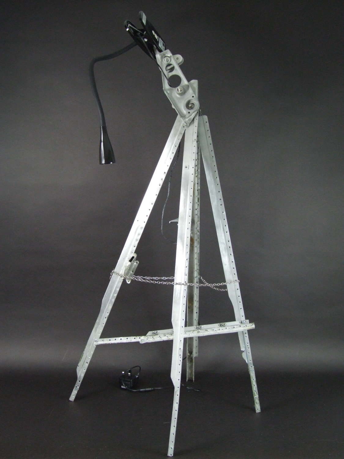Tripod Lamp Stand made from Spitfire parts