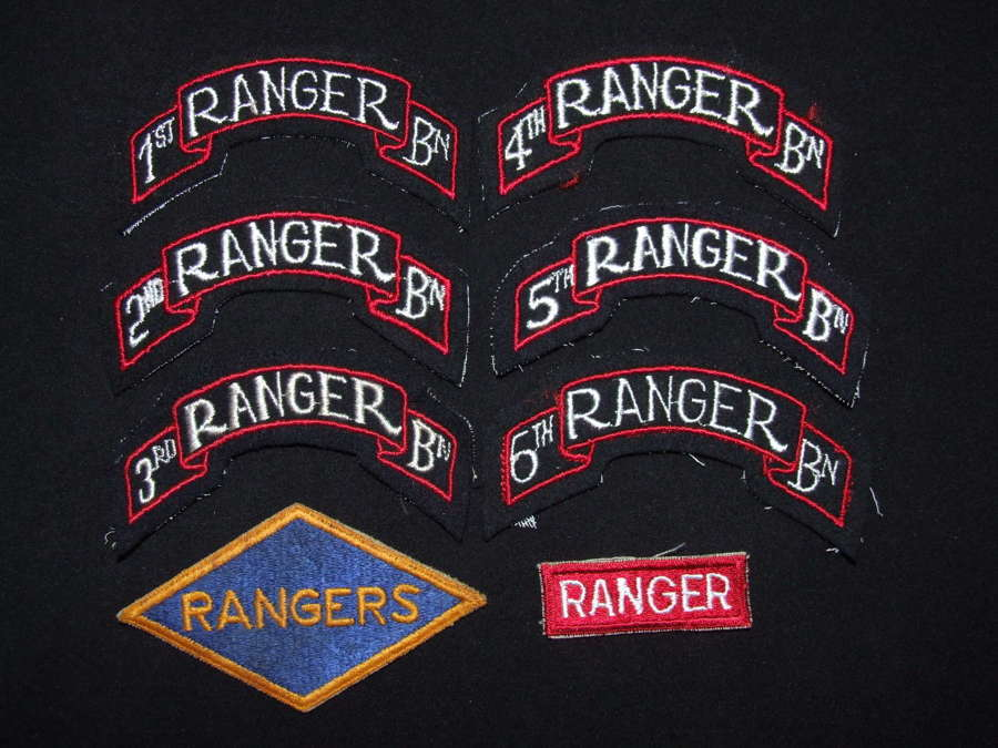 A Collection of WW11 US Ranger Cloth Insignia