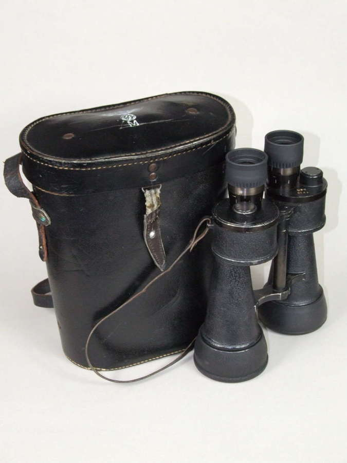 Kriegsmarine Leitz 7x50 Binoculars with Case
