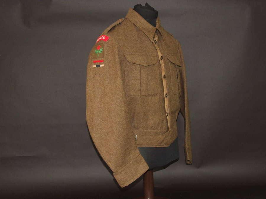 37 battledress Blouse. The Buffs. Size 16, 1941 dated
