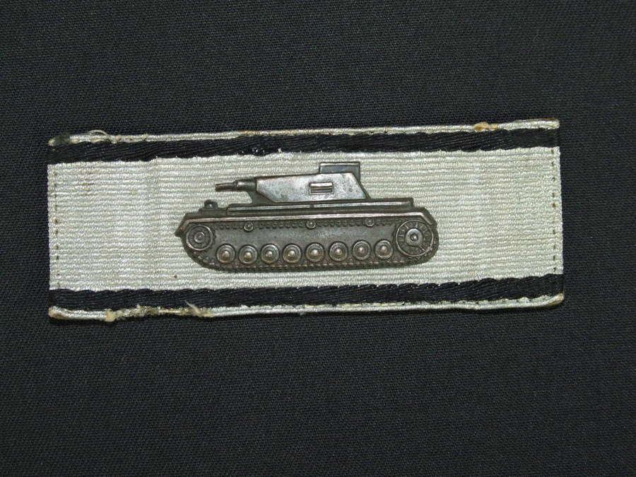 Tank Destruction badge, Silver Grade
