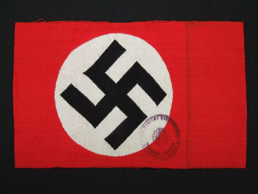 NSDAP Armband. DAF Stamped