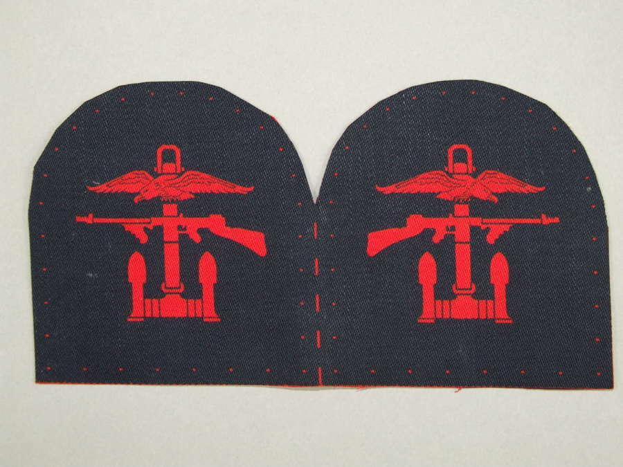 Unissued Pair of Tombstone Combined Operations Printed Formation Signs
